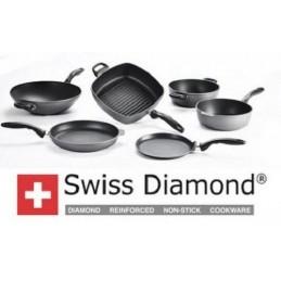 Swiss Diamond Casseruola Alta 24 cm con coperchio per Induzione