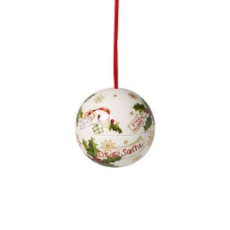 Villeroy & Boch Sfera Lettere Babbo Natale Ornamento Christmas Balls