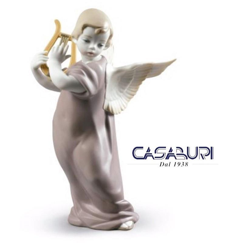 Lladrò Angel with Lyre 01009187 Figurine