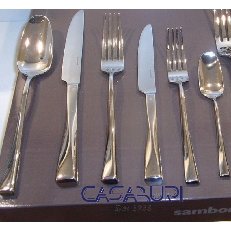 Sambonet Twist Servizio Posate 72 Pz manico cavo orfèvre 52526-78