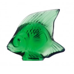 Lalique Pesce Verde Smeraldo Scultura Cristallo Ref. 3001000