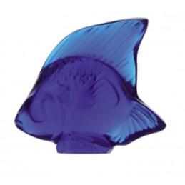Lalique Pesce Cap-Ferrat Blue Scultura Cristallo Ref. 3002100