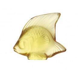 Lalique Pesce Giallo Oro Scultura Cristallo Ref. 3002900