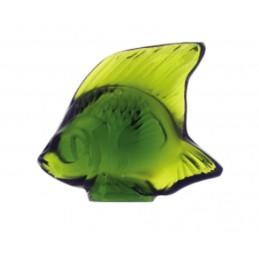 Lalique Pesce Verde Lime Scultura Cristallo Ref. 3000900