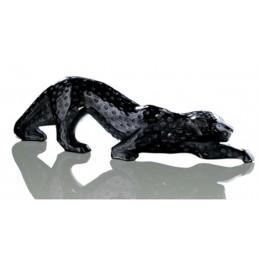 Lalique Pantera Zeila Scultura Cristallo Nero Ref. 1167100