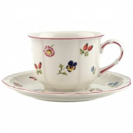Villeroy & Boch Petite Fleur Brekfast Cup and Saucer Set 6 pcs