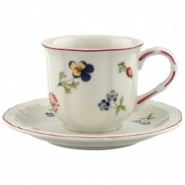 Villeroy & Boch Petite Fleur Espresso Cup and Saucer Set 6 pcs