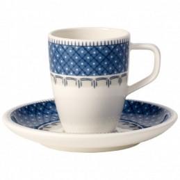 Villeroy & Boch Casale Blu Tazza Espresso con Piattino Set 6 Pz