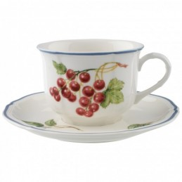 Villeroy & Boch Cottage Breakfast Cup and Saucer 6 Pcs