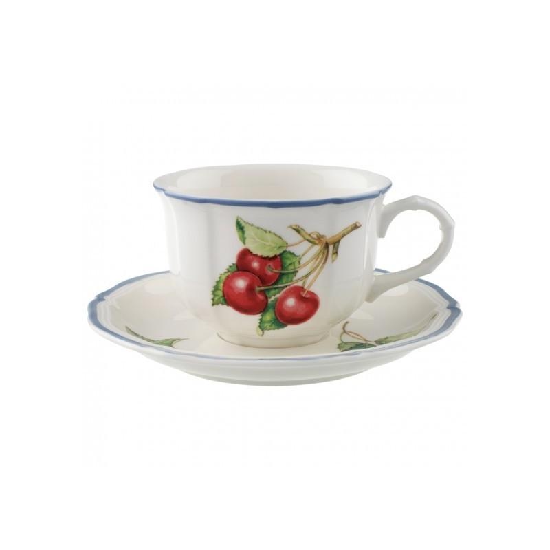 Villeroy Boch Cottage Tea Cup And Saucer Set 6 Pcs Casaburi Dal 1938