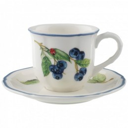 Villeroy & Boch Cottage Espresso Cup and Saucer Set 6 Pcs
