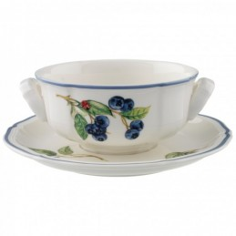 Villeroy & Boch Cottage Soup Cup and Saucer Set 6 Pcs