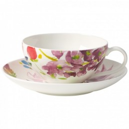 Villeroy & Boch Anmut Flowers Tea Cup and Saucer Set 6 Pcs