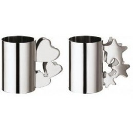 Sambonet Set 2 Napkin Holder Heart & Star 56533-06