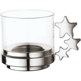 Sambonet Candle Holder with Glass Lucky Leaf 56533-14