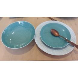 Rosenthal Mesh Aqua Dishes Dinnerware 18 Pcs