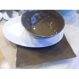 Rosenthal Mesh Walnut Table Accessories 3 Pcs