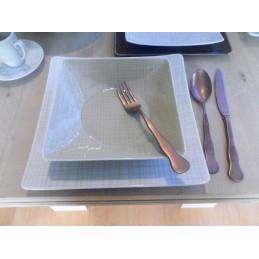 Rosenthal Mesh Cream Square Dishes Dinnerware 18 Pcs