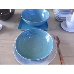 Rosenthal Mesh Aqua Dishes Dinnerware 12 Pcs