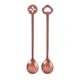 Sambonet Oriental Set 2 Party Spoons Pvd Copper