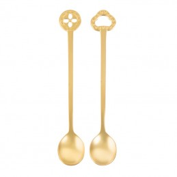 Sambonet Oriental Set 2 Party Spoons Pvd Gold