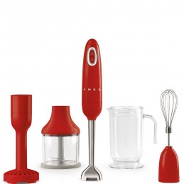 Smeg Hand Blender Red with Accessories HBF02RDEU