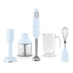 Smeg Hand Blender Pastel Blue with Accessories HBF02PBEU