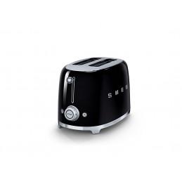 Smeg 2 Slice Toaster Black TSF01BLEU