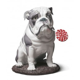 Lladrò Bulldog with Lollipop Dog Figurine 01009234