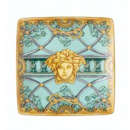 Versace La Scala del Palazzo-Green Bowl Square Flat 12 cm