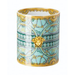 Versace Rosenthal La Scala del Palazzo-Green Vase 18 cm