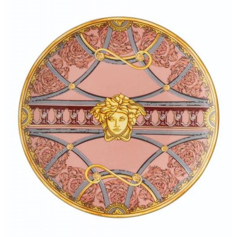 Versace Piatto Piano 17 cm La Scala del Palazzo - Rosa