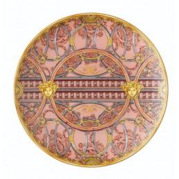 Versace Piatto Piano 21 cm La Scala del Palazzo - Rosa