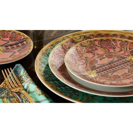 Versace Piatto Fondo 22 cm La Scala del Palazzo - Rosa