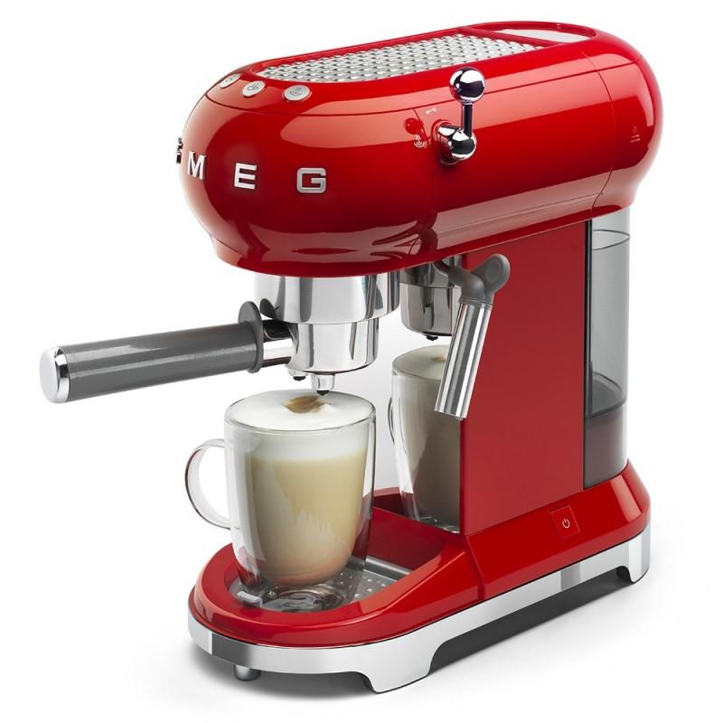 Smeg Espresso Coffee Machine Red