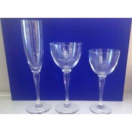 Saint Louis Crystal Amadeus Glasses Set 18 Pcs