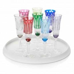 Saint Louis Crystal Tommy Flutes Champagne 6 Pcs