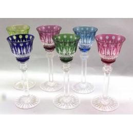 Saint Louis Crystal Tommy Porto Glass 6 Pcs Assorted Colors