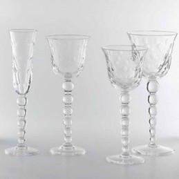 Saint Louis Crystal Bubbles Glass Set 3 Pcs