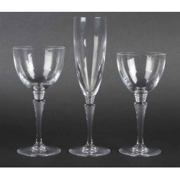 Saint Louis Crystal Grand Lieu Glass Set 3 Pcs
