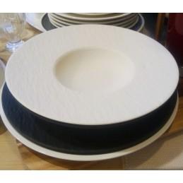 Villeroy & Boch Manufacture Rock Blanc Pasta Plate 29 cm