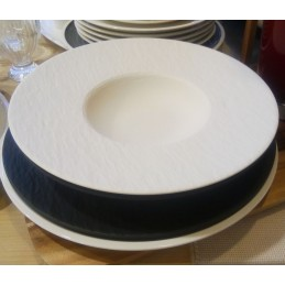 Villeroy & Boch Manufacture Rock Piatto Pasta 29 cm Bianco