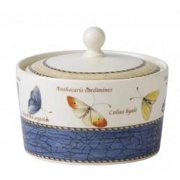 Wedgwood Sarah's Garden Sugar Bowl Blue
