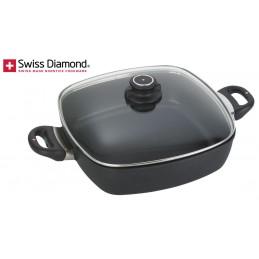 Swiss Diamond Non Stick Square Casserole 28 cm with Lid