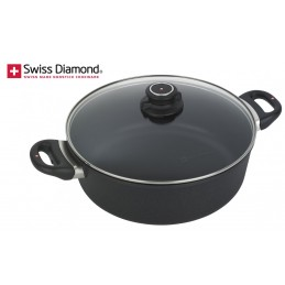 Swiss Diamond Induction Brasier 28 cm with Lid SD 6928DI