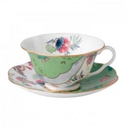Wedgwood Butterfly Bloom Tazza Tè Verde con Piattino