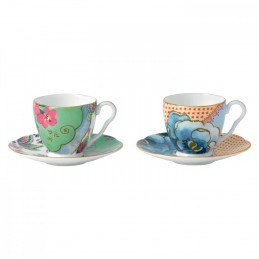 Wedgwood Butterfly Bloom Espresso Cup and Saucer Set 2 Pcs