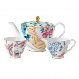 Wedgwood Butterfly Bloom Set Teapot-Sugar Bowl-Creamer 3 pcs