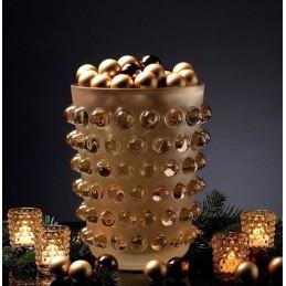 Lalique Vaso Mossi Cristallo Ambra Ref.10029000