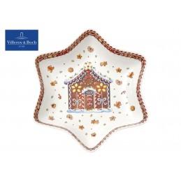 Villeroy & Boch Winter Bakery Delight Star Bowl House of gingerbread